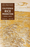 California Rice Production publication cover (1950)